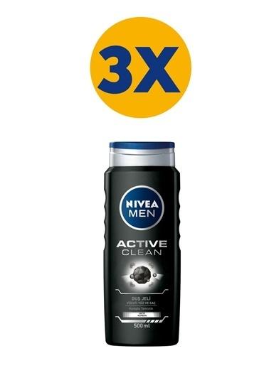 Nivea Active Clean 500 ml x3 Renkli